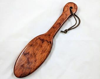 "12"" Bubinga 'Hairbrush' BDSM Spanking Paddle"