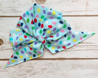JELLY BEAN Gorgeous Wrap- headwrap; fabric head wrap; jelly bean head wrap; boho; newborn headband; baby headband; toddler headband