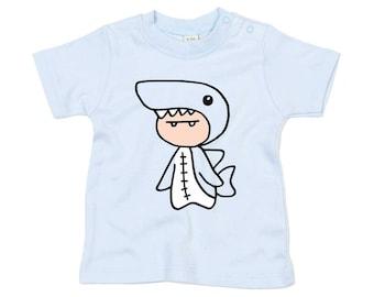 Kids shark shirt etsy for Shark tank t shirt printing