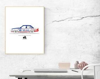 Car Print, Car Wall Art, 1985 Holden VK Commodore - Peter Brock