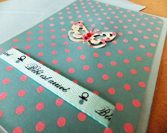 Handmade birth card