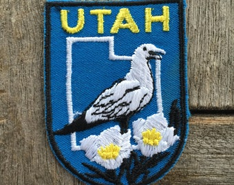 Utah Vintage Souvenir Travel Patch from Baxter Lane - New In Original Package