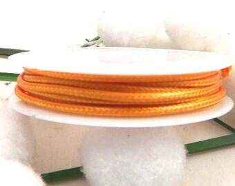 cord of wax coated orange 2mm by 3.5 meters