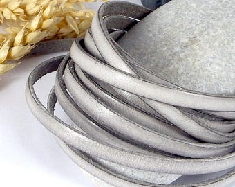 2 meters 5mm flat leather grey origin EUROPE cpu5pr calf leather
