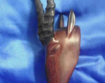 Hand Carved African Antilope Head