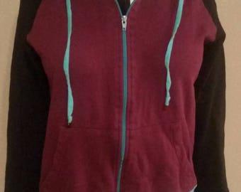 Woman's large plum liripipe jacket
