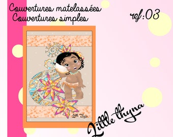 Quilted or simple cover for children (ref 03)