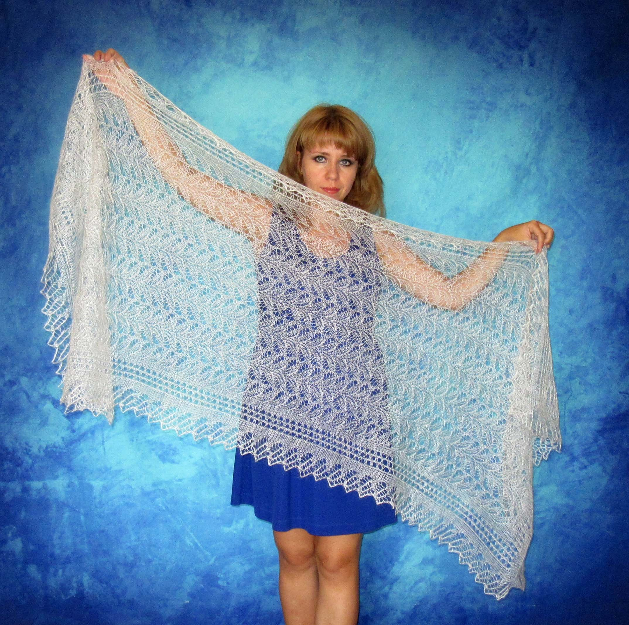 Lace shawl,wedding shawl,white scarf,hand knit shawl,wool wrap ...