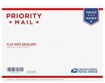 Priority Mail Shipping - Medium Flat Rate Box - For Reships and address corrections