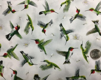 Hummingbirds by Quilting Treasures.