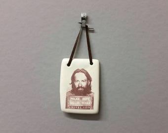 Willie Nelson Mugshot Ornament