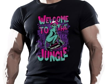 Welcome to the jungle. Black Men's Cotton T-shirt Good gift for husbend or friend.