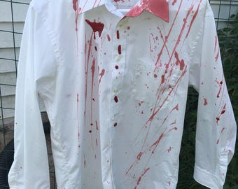 Zombie costumes, mens zombie shirt, walking dead costume, womens zombie costume, vampire costume, bloody shirt, mens bloody shirt, halloween