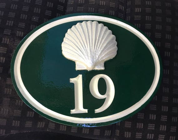 "Handcrafted house number signs - with figure 1-2 numbers - 6.5"" x 10"" x 1"""