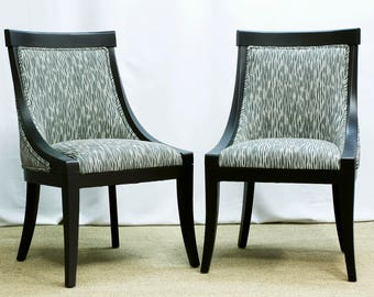 SOLD Two newly refinished occasional chairs