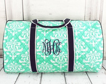 Monogrammed Quilted Duffle Bag Large Kids Dance Cheer Girls : personalized quilted duffle bag - Adamdwight.com