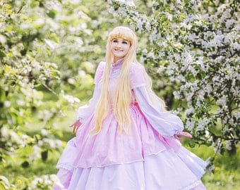 Ball gown cosplay dress costume elegant medieval