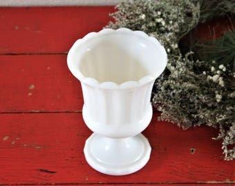 Milk Glass Planter, vintage milk glass bowl