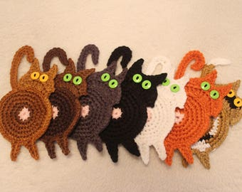 CAT BUTTHOLE COASTERS