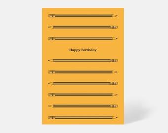 Pencil Birthday Card