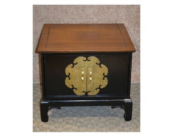 Vintage Asian Style Two Door Side Table