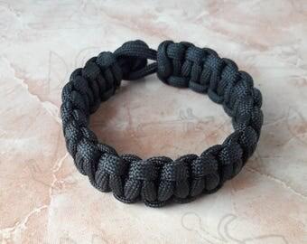 Mens jewelry Black bracelet mens gift bracelet paracord cobra bracelet Father's Day Gift boyfriend survival bracelet friendship paracord 500