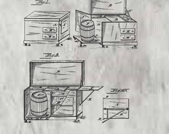 Kitchen Cabinet Patent # 355553 dated Jan. 4, 1887.