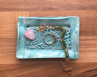Try a Tiny Turquoise Trinket Tray
