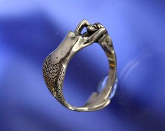 Mermaid Ring Sterling Silver