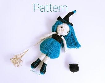 Amigurumi Witch pattern, Witch crochet pattern, Witch crochet pattern, Witch amigurumi pattern