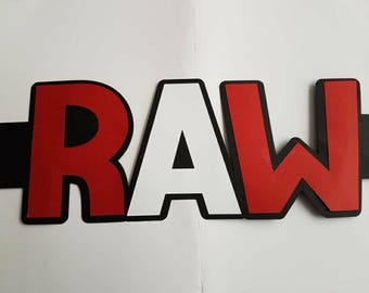 WWE Inspired RAW Sign Cake Wrapper
