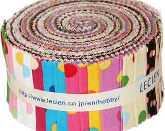 """Lecien Color Basic Vivid Jelly Roll containing 42-2.5"""" strips quality quilting cotton"""