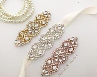 Wedding Sash, wedding belt,  bridal sash, bridal belt, Bridesmaid Sash, Flower girl Sash, flower-girl belt, bridesmaid belt
