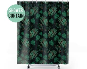 Shower Curtain Palm Leaves Pattern Shower Curtain