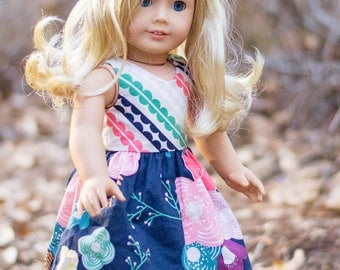 DOLL Ayda PDF Sewing Pattern for Sizes 14″ & 18″ (Wellie Wisher, American Girl equivalent)