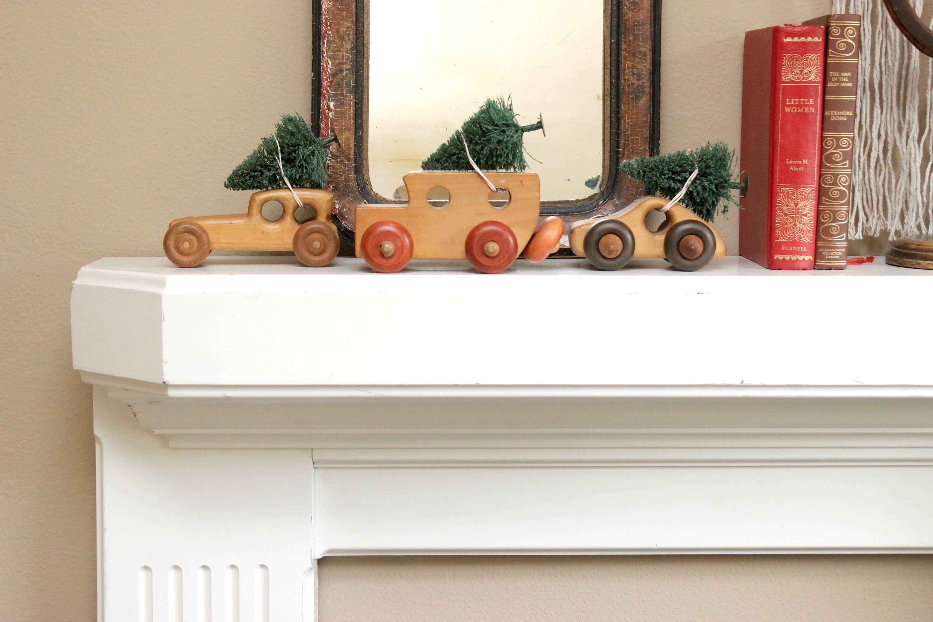 vintage toy car christmas decor