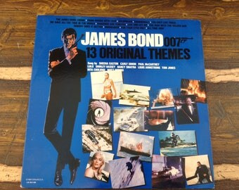 James Bond 007 13 Original Themes Vintage Vinyl Record LP 1983