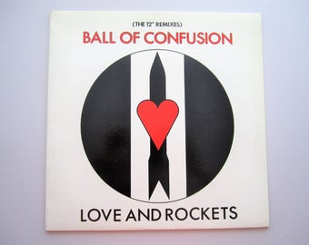 """Love and Rockets - Ball of Confusion - The 12"""" Remixes -  Vintage Vinyl Record - 12"""" Single - 1985"""