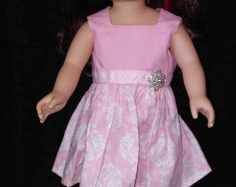 "18"" doll clothes. Party Dress. Doll Dress. Pink dress. Summer Fun. Paris Style."