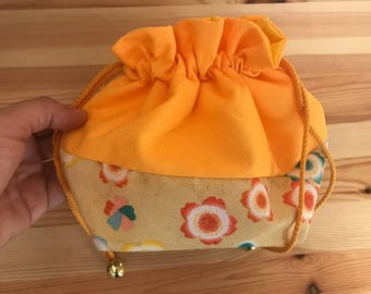 Vintage Japanese drawstring bag Japanese Purse Cosmetic Bag