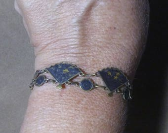 Japanese Damascene Panel Bracelet