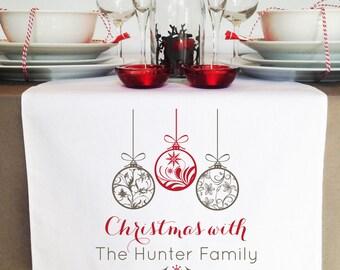 Ornaments Christmas Table Runner