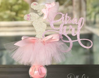 It's A Girl Centerpiece, Baby Shower Centerpiece, Its A Girl Party  Decorations, Ballerina