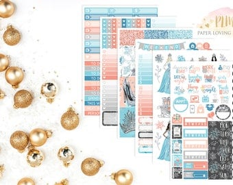 Snow Queen Kit | Winter Stickers | Weekly Kit | Snow Kit | Planner Stickers designed for use with the Erin Condren Life Planner