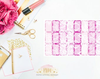 February Halfbox Stickers | Planner Stickers designed for use with the Erin Condren Life Planner