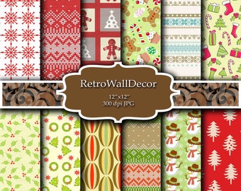Christmas digital paper, christmas tree, Holiday Papers, winter paper, Christmas Patterns, Christmas Background Buy 2 Get 1 FREE