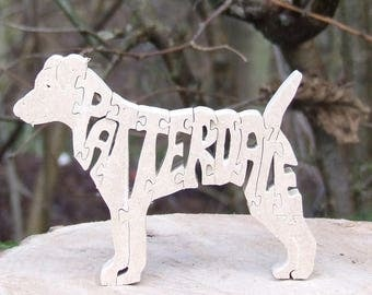 Patterdale Terrier dog jigsaw , Patterdale ornament, Patterdale puzzle, Patterdale gift, Patterdale memorial,gift dog lover