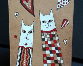 Original cat card ' Muz: Valentine's day lovers