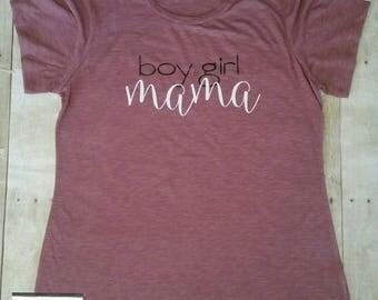 Mom Life Shirt, Mom Shirt, Boy Girl Mama Shirt, Mama Shirt, Boy Girl Mama, Mom of Girl, Mom of Boy, Mom Life, Mom Shirt, Boy and Girl Mom
