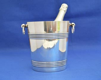 Art Deco Style Christofle Champagne Bucket  - Ice - Wine Cooler - Silver Plate Vintage Gallia -Silver Plate - Barware -